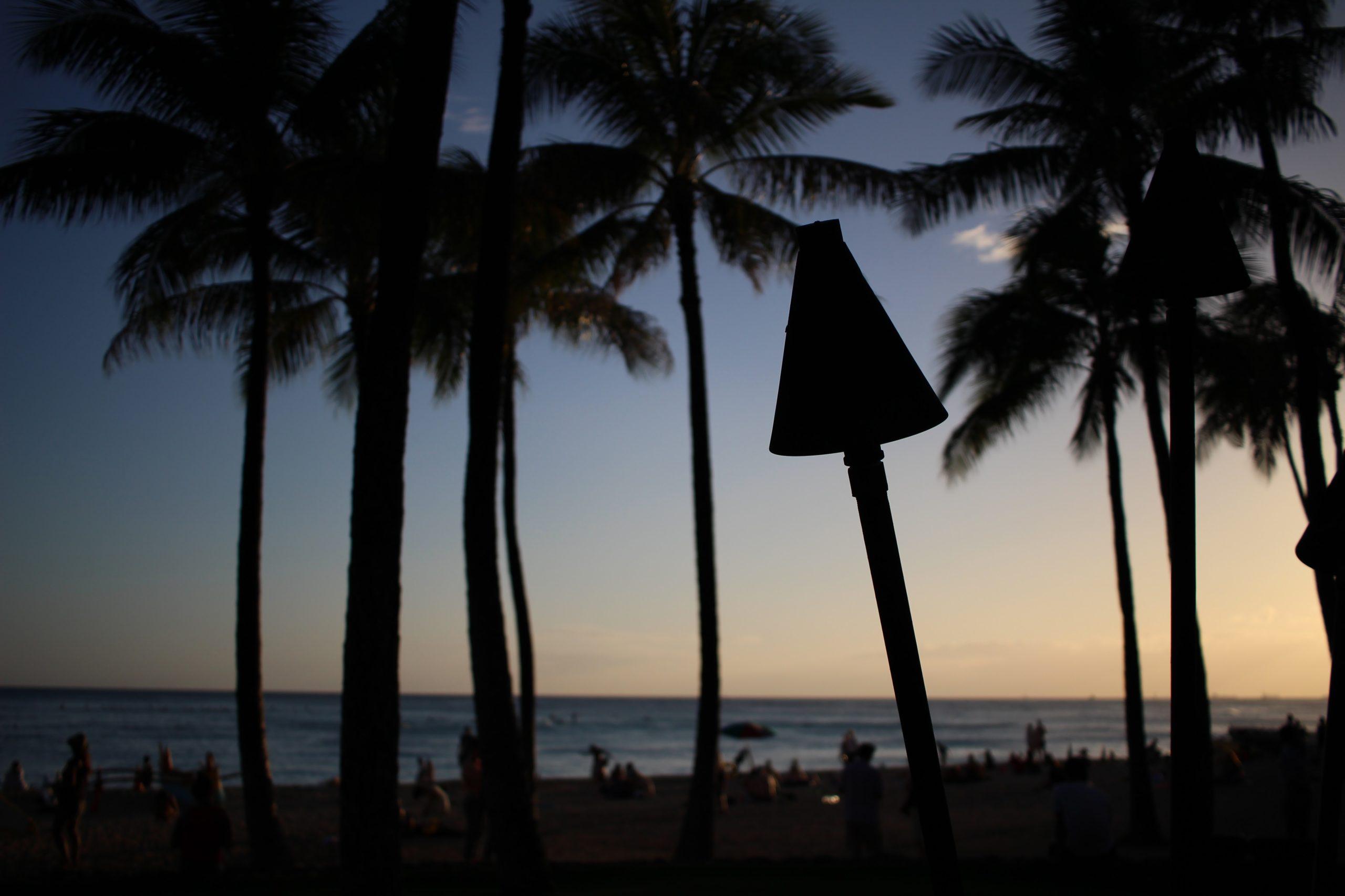 ハワイの夕暮れ