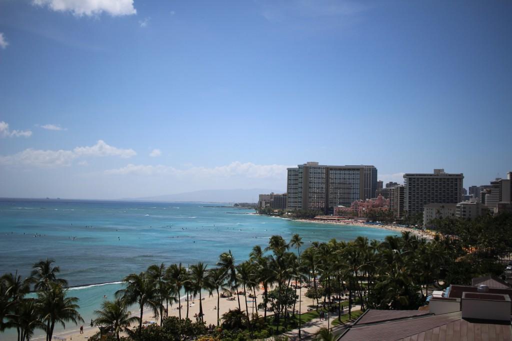ハワイのホテルより
