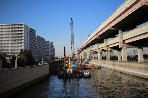 綾瀬川の工事