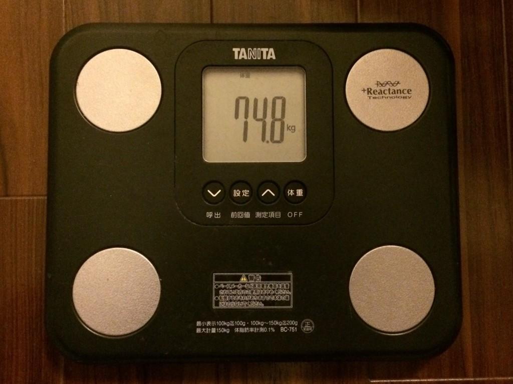 74.8キロ