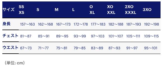 アシックスサイズ表