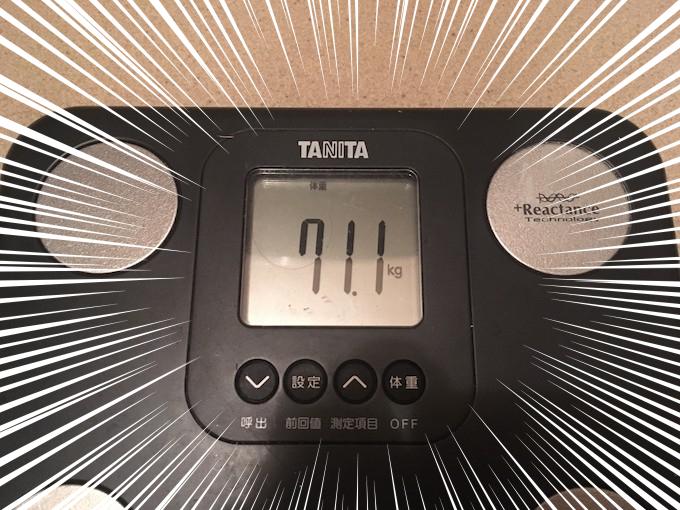 71.1キロ