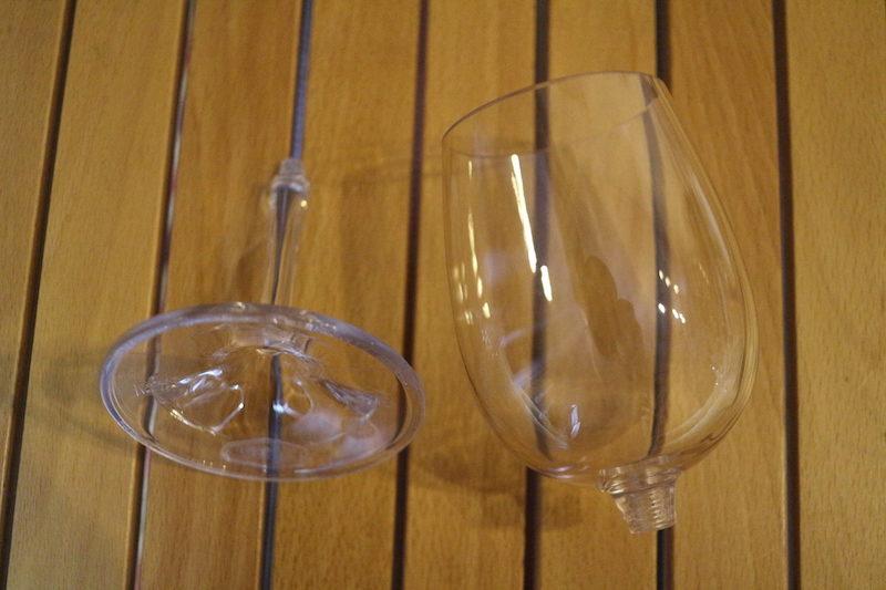 分割できるワイングラス