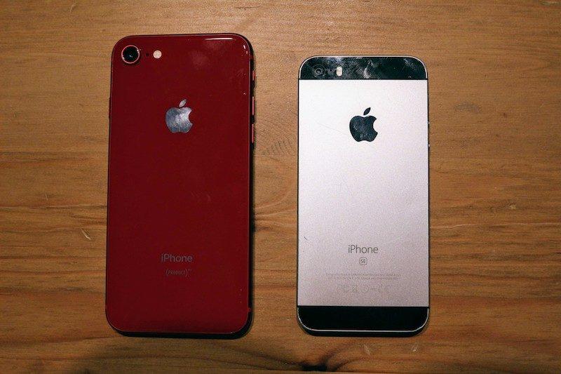 iPhoneSEから8に買い替え