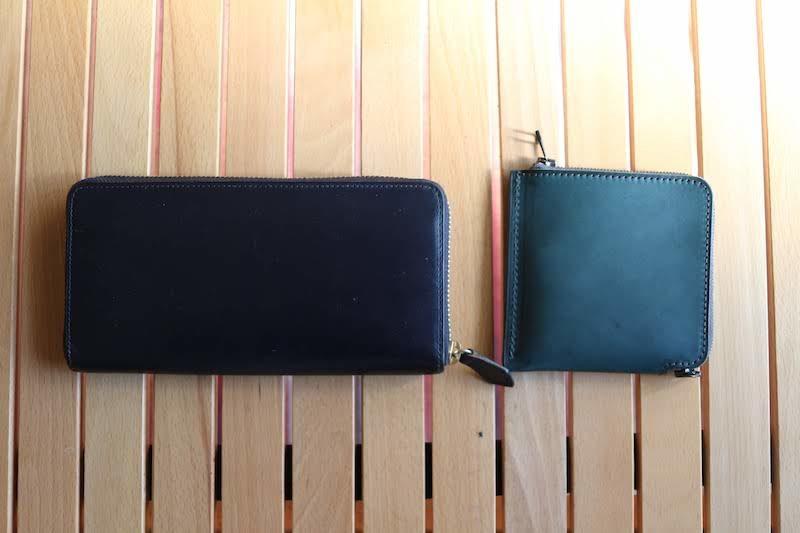 長財布と短財布《単》HITOE Short Walletの比較