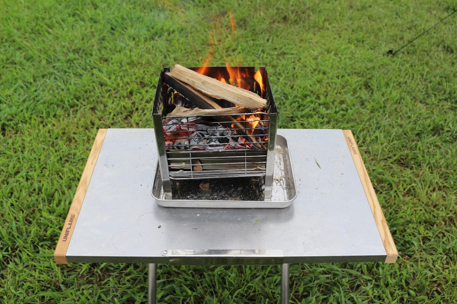 台 ユーラー 焚き火