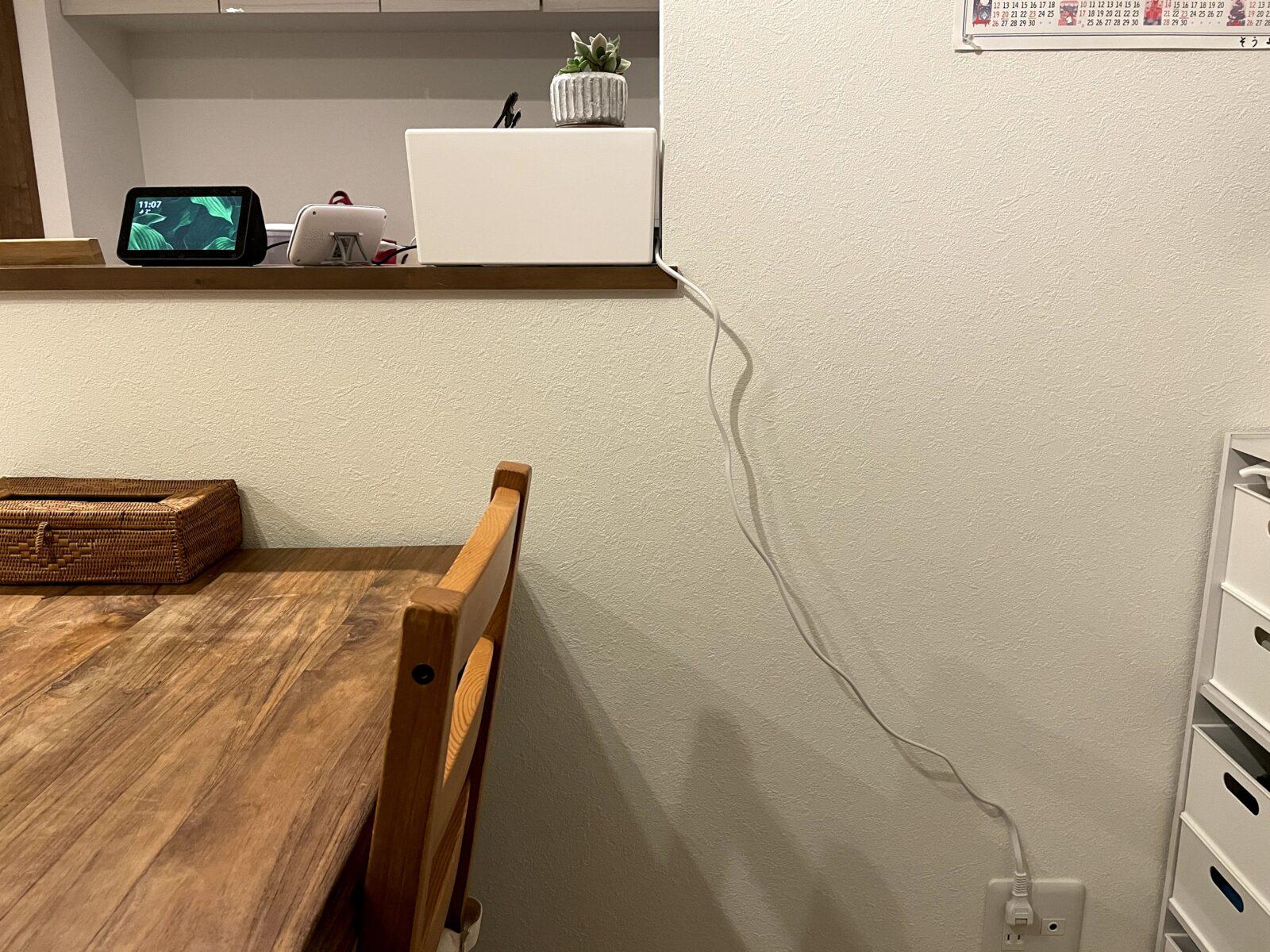 キッチンカウンターの上
