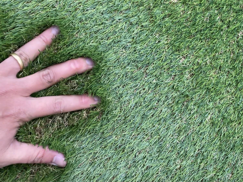 開封直後の人工芝