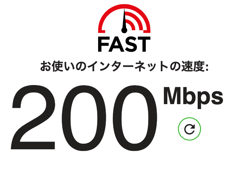 インターネット回線の速度テスト___Fast_com